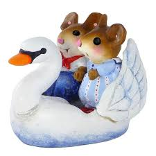 swan boat sweethearts by wee forest folk m 457 blackstone s of