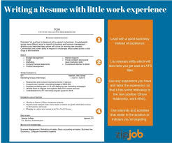 How To Write A Resume Without Work Experience How To Write The Perfect Resume With Little To No Experience