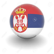 Flag Of Serbia 3d Ball With Flag Of Serbia High Resolution 3d Render Isolated