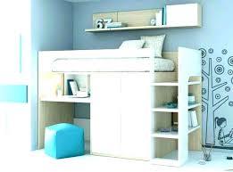 bureau sous mezzanine lit mezzanine placard lit lit mezzanine avec bureau et dressing lola