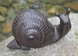 2018 rustic cast iron garden snail hide a key lawn yard statue