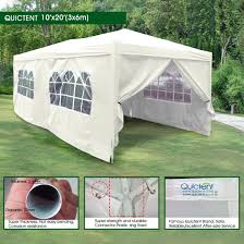 12 X 20 Canopy Tent by Amazon Com Quictent 10 U0027 X 20 U0027 Outdoor Gazebo Canopy Wedding
