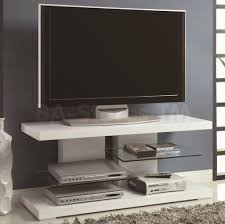 furniture white matt modern tv stands with dvd player and dual
