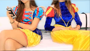 different types of girls on halloween youtube