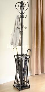 furniture modern shape of standing coat rack in black with curved