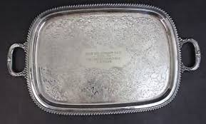 engraved silver platter vintage georgian caldroon engraved silver plate handled serving