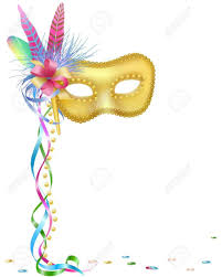 white mardi gras mask vector illustration of a carnival or mardi gras mask isolated