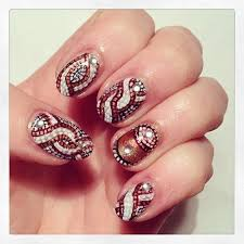 indian bridal nail art designs for wedding 6