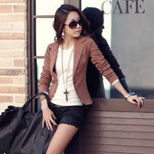womens casual slim casual solid one button business blazer suit coat
