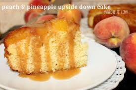 peach u0026 pineapple upside down cake oh bite it