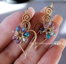 beginner earrings wire jewelry tutorial charming hearts 2 earrings pdf