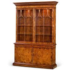 mahogany corner bookcase glazed bookcases and display cabinets