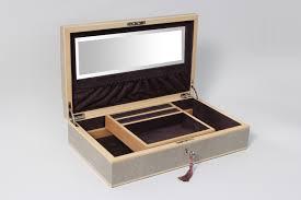 unique box avalon jewellery box barley grey shagreen forwood design
