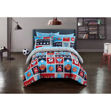 mainstays kids atheletics bed in a bag bedding set walmart com