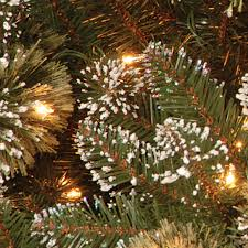 buy the 6 5 ft glittery bristle pine slim artificial christmas