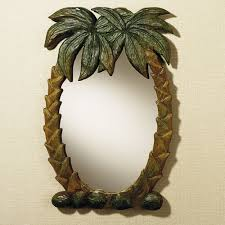 palm tree mirror large decorative home palm tree wall mirror
