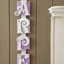 Pottery Barn Names Buy Name Plaque 6 Letter Personalized Door Sign Chevron Baby