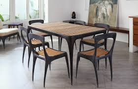 cas 6 seater dining set with teak out u0026 out original
