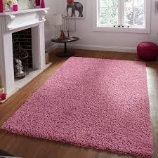 new vega shaggy rug in dusty pink