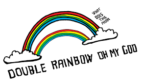 Double Rainbow Meme - double rainbow transcript for the hearing impaired whoa that s a