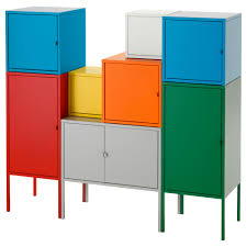 Ikea Storage Cabinets Lixhult Storage Combination Ikea Ikea Storage Cabinets With Bins