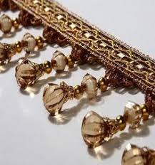 luxury beaded trim for curtains tassel fringe lace ribbon