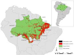 Amazon World Map by Deforestation In The Brazilian Amazon In 2016 The Lazy Dragon