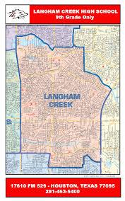 Zip Code Houston Map by Langham Creek High Attendance Boundary Map