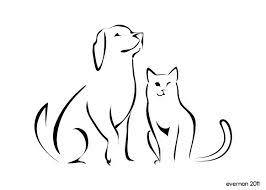 image result for cat u0026 dog sketch silhouette tattoos dog