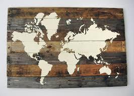 Diy World Map Wall Decor Best 25 Map Wall Art Ideas Pinterest
