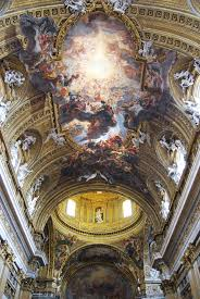 church ceilings the vault ceiling in the church of the gesù in rome italian ways
