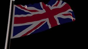Great Britain Flag 4k United Kingdom Of Great Britain Flag Is Fluttering On Green