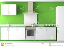 modern design kitchen green white stock photography image 19022992