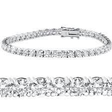 tennis bracelet white images Pompeii3 10 ct diamond tennis bracelet 14k white gold 7 quot double jpg