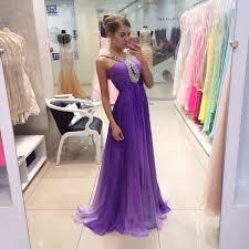 light purple long dress sale long prom dresses with pleat hand beading chiffon prom