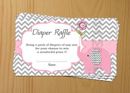 Baby Shower Invitation Wording Bring Books Instead Of Card Elephant Baby Shower Diaper Raffle Ticket Diaper Raffle Card