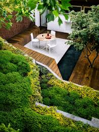 Steep Sloped Backyard Ideas by Spectacular Garden Takes Advantage Of The Sloping Californian