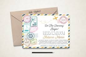 wedding invitations stamps travel bridal shower invitation traveling from miss to mrs