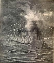 Civil War Battle Flag Civil War Naval Battle
