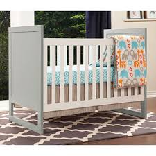 baby mod modena mod two tone 3 in 1 convertible crib gray and