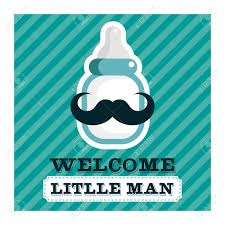 mustache baby shower blue baby shower greeting card with mustache baby bottle royalty