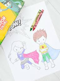 superhero coloring pages free superhero coloring pages crazy little projects