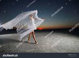 Beautiful Outdoors by Young Beautiful Ballerina Dancing Outdoors Sunset Stock Photo