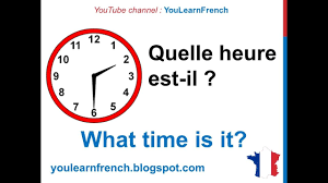 What Time Is It Worksheet French Lesson 11 Tell Time In French What Time Is It Quelle