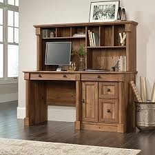 sauder 420606 palladia l desk vo a2 computer vintage oak sauder palladia computer desk with hutch in vintage oak shinybasket