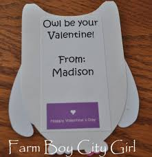 owl valentine card