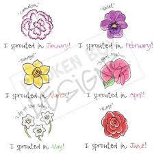 flowers of the month i sprouted in birthday flowers set1