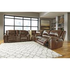 ashley furniture jayron reclining power sectional in harness