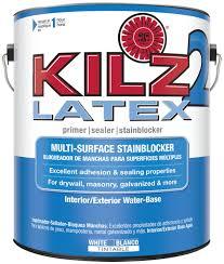 kilz 2 white water based latex interior exterior multi surface