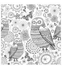 difficult owls animals coloring pages for adults justcolor